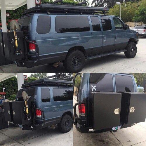 Ford Econoline With Aluminess Rear Bumper, Storage Box