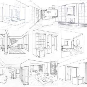 Interiors dream houses and interior design on pinterest for My dream house drawing