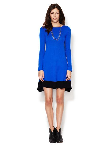 Cashmere Colorblock Boatneck Dress by Autumn Cashmere at Gilt