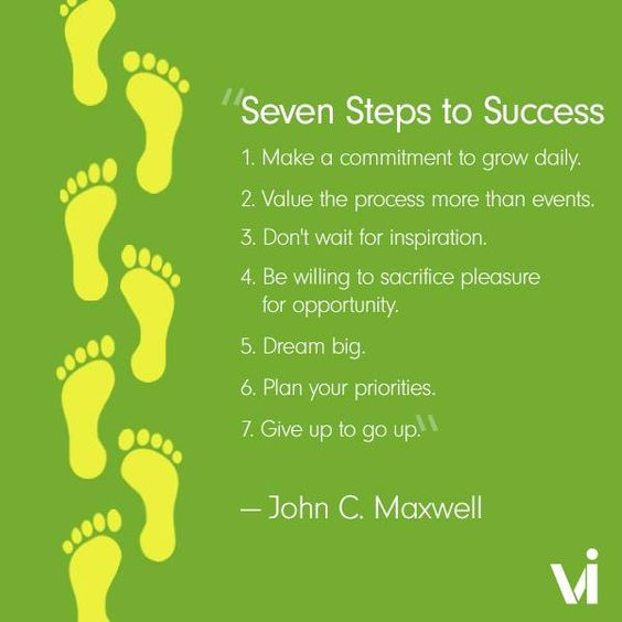 Steps Of Success Quotes: Inspiration #ViLife
