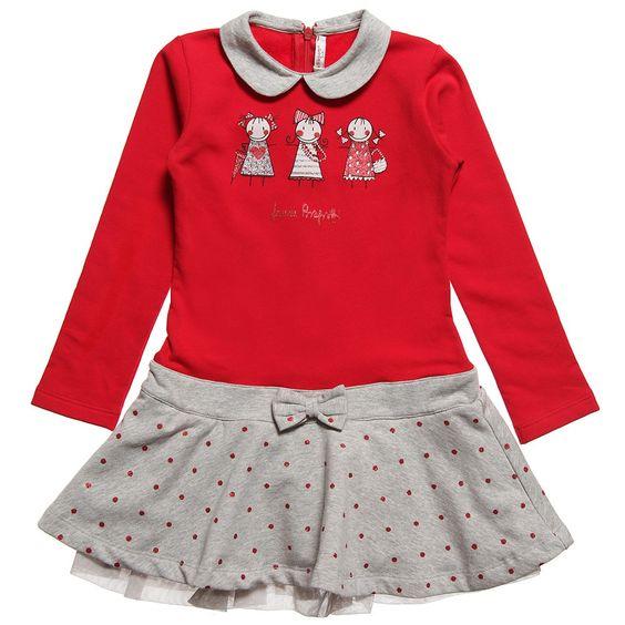Red Jersey Dress with Diamante Details | Childrensalon