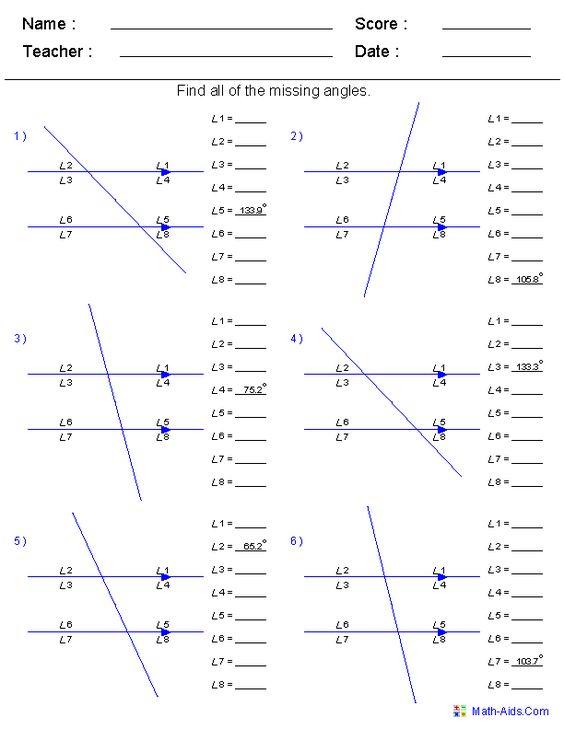 math worksheet : find all angles worksheets  math  pinterest  worksheets and angles : Gcse Maths Angles Worksheets