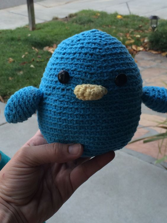 My first crocheted project ever. Tristan's Blue Bird
