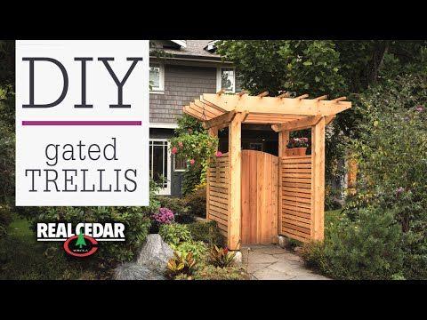 Free Entrance Trellis Project Plan Real Cedar Backyard Landscaping Trellis Gate Diy Gate
