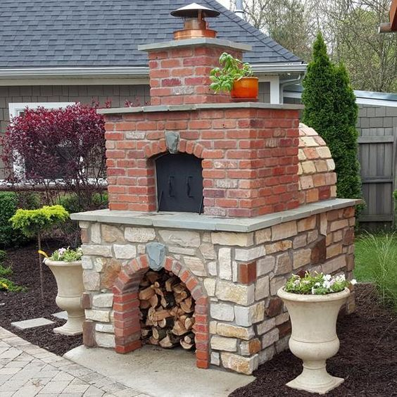 One Of The Most Popular Diy Wood Fired Ovens On The Internet This Tan Firebrick Oven Was Built Using The Build A Pizza Oven Pizza Oven Plans Brick Pizza Oven