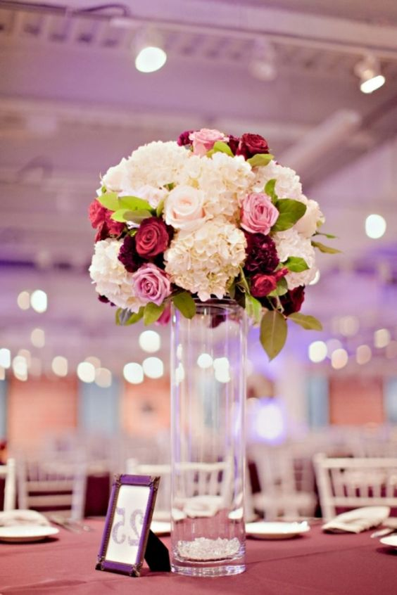 Burgundy Hydrangea Centerpiece : Hydrangea flower hydrangeas and search on pinterest