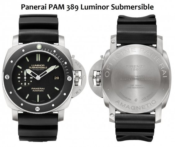 Panerai PAM389 Luminor Submersible Amagnetic Dive Watch