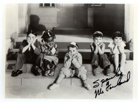 "Spanky McFarland Signed ""Little Rascals"" Photo $75"