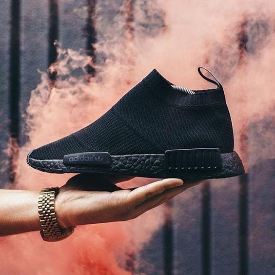 "adidas Originals NMD City Sock ""Triple Black Customs"" || Follow @filetlondon for more street wear style #filetclothing"