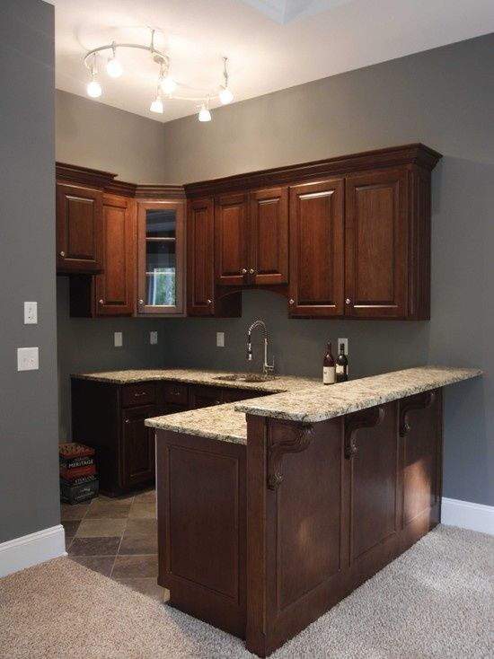 Basement kitchenette corner google search basement for Kitchenette layout