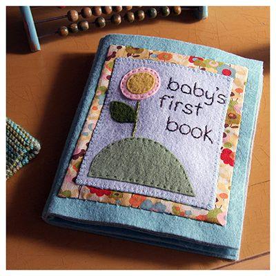 super cute felt book - I like the way she made the cover:)