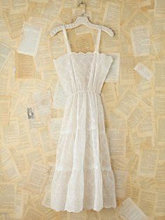 Vintage Cotton and Crochet Maxi Dress in Vintage-Loves-victorian-dreamer