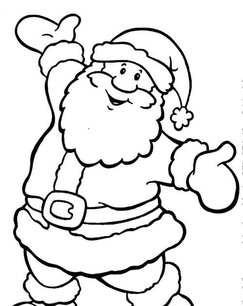 Happy Santa Claus Christmas Coloring Pages Christmas Printable Santa And Reindee Santa Coloring Pages Christmas Coloring Sheets Free Christmas Coloring Pages