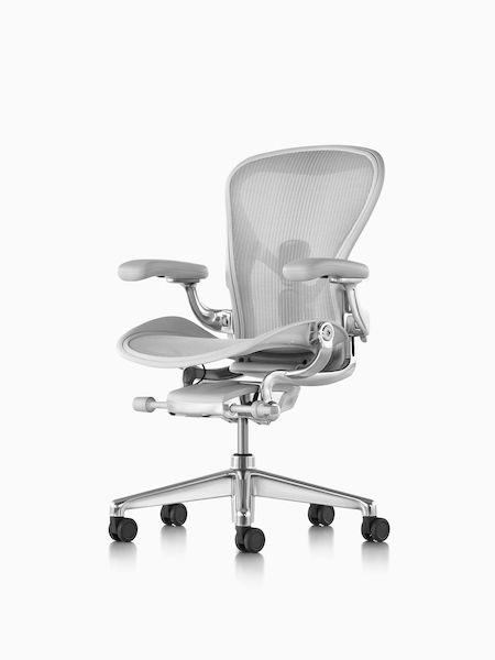 Aeron Chair With Mineral Finish On Seat Back And Arms Polished