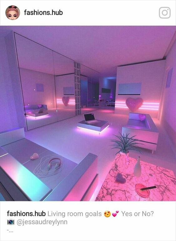 aesthetic bedroom pastel kawaii rooms neon bedrooms cool backgrounds awesome