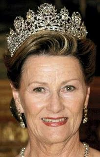 Queen Josephine Diamond Tiara worn by HM Queen Sonja of Norway