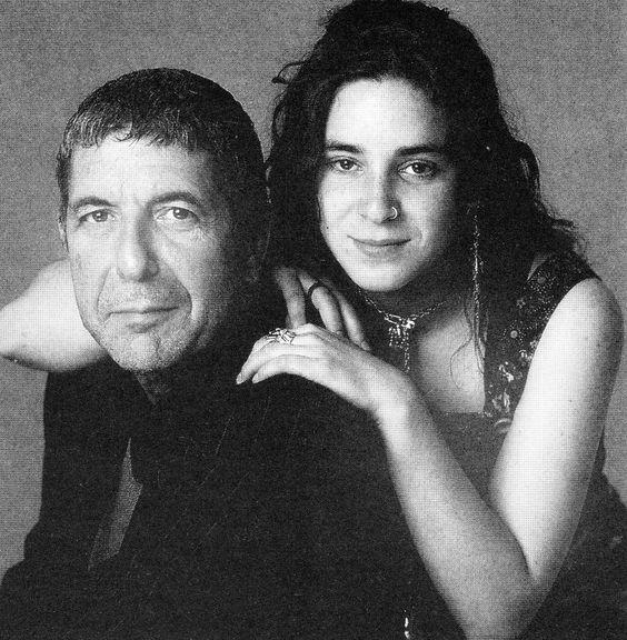 Leonard Cohen with daughter Lorca.: