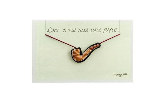 René Magritte, Necklace with Pipe's Pendant