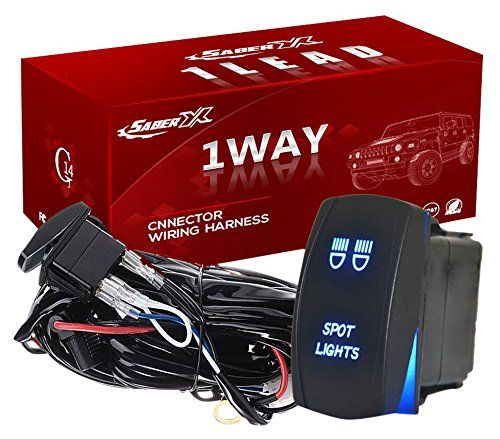 1 Lead Offroad Wiring Harness Kit Power Switch Blue