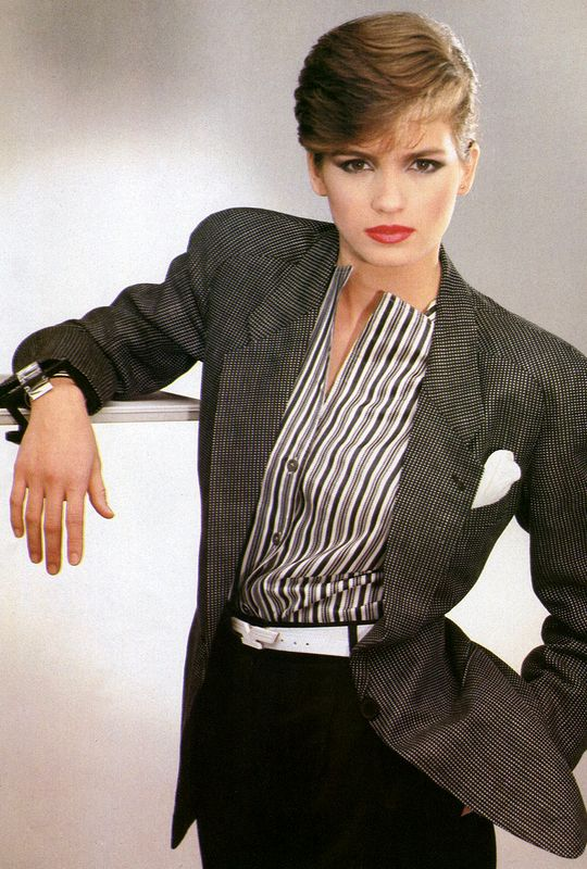 Gia Carangi photographed by Aldo Fallai, 1980.
