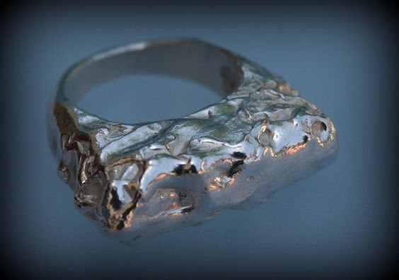 Silver ring  Meltdown a silver ring my-works.