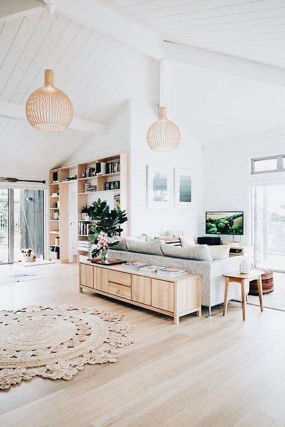 Open And Bright Scandinavian Inspired Livingroom For The Home Living Room Scandinavian Home Living Decor #scandinavian #inspired #living #room