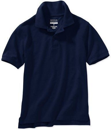 George Boys School Uniforms Short Sleeve Polo Shirt with Stain Resistant Scotchgard Treatment: Get it for $3.50 (was… #coupons #discounts