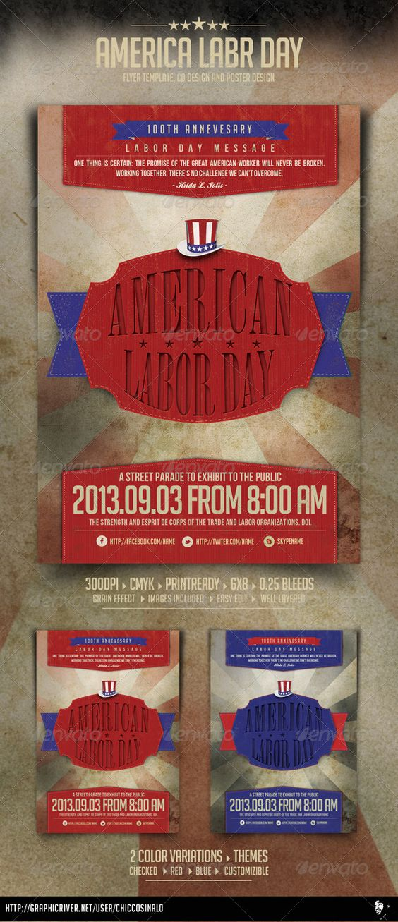 Labor Day Flyer Template | Mondays, Labor And Fonts