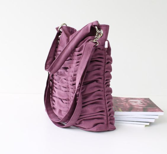 Poetry in Plum Purple top ZIPPER CLOSURE / Pleated by bayanhippo, $44.00