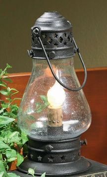 Country Lamps and Lighting - Tall Black Onion Lamp - 9-1/2""