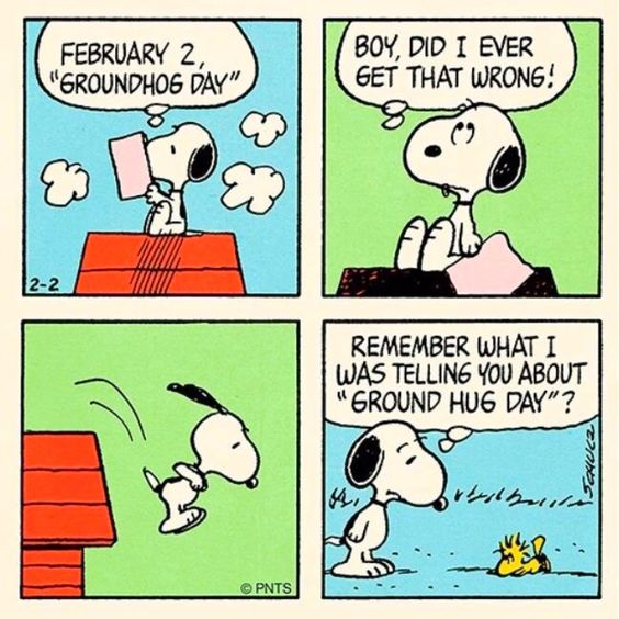 """There is no way that this winter is ever going to end as long as this groundhog keeps seeing his shadow. I don't see any other way out. He's got to be stopped. & I have to stop him."" Snoopy {Phil} Connors #GroundhogDay"