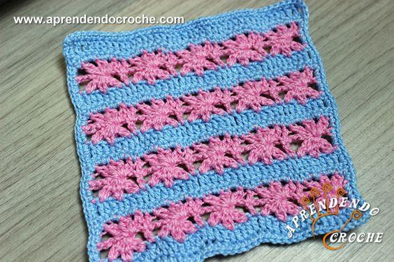 Ponto de Crochê Fantasia - 12 - Receita de Croche com o Passo a Passo no Link http://www.aprendendocroche.com/receitas-de-croche/video-aula.asp?resid=1572&tree=2