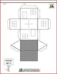 Domein meetkunde onderdeel ruimtelijk inzicht doel adhv een uitslag een ruimtelijke vorm - Model van huisarchitectuur ...