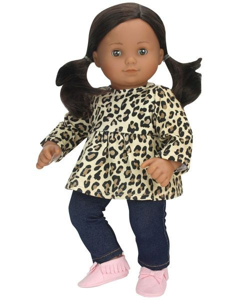 Cheetah Print Tunic Jeggings For 15 Inch Baby Dolls Baby Doll Clothes Bitty Baby Doll Clothes