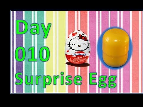 dia 010 ovo surpresa kinder hello kitty - YouTube