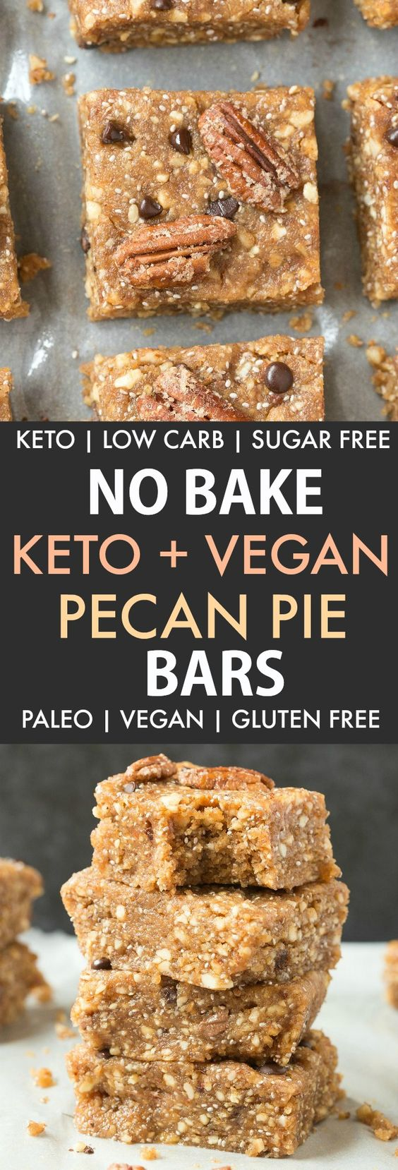 No Bake Paleo Vegan Pecan Pie Bars