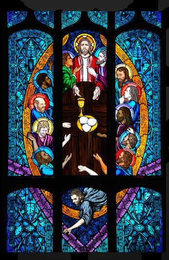Last Supper stained glass window, St. Ignatius of Loyola Catholic Church, Denver: