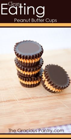 Peanut Butter Cups #CleanEating - what about with Almond Butter for Passover?