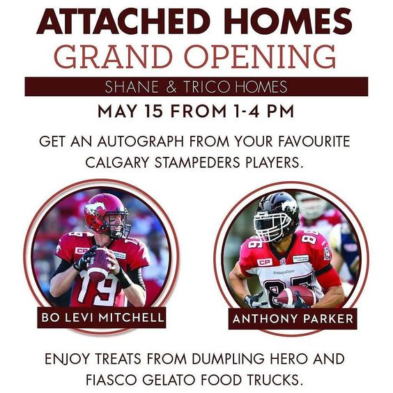 No plans for Sunday? Come visit us and @fiascogelato at 1432 legacy circle SE for their open house  w/ @shanehomes for #dumplings #icecream and #autographs #thedumplinghero #foodtruck #foodtrailer #calgary #alberta #yyc #yycfoodtrucks by thedumplinghero