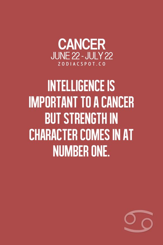 Cancers' can love too much...and can be a bit complicated...but always seem to come back to earth..haha