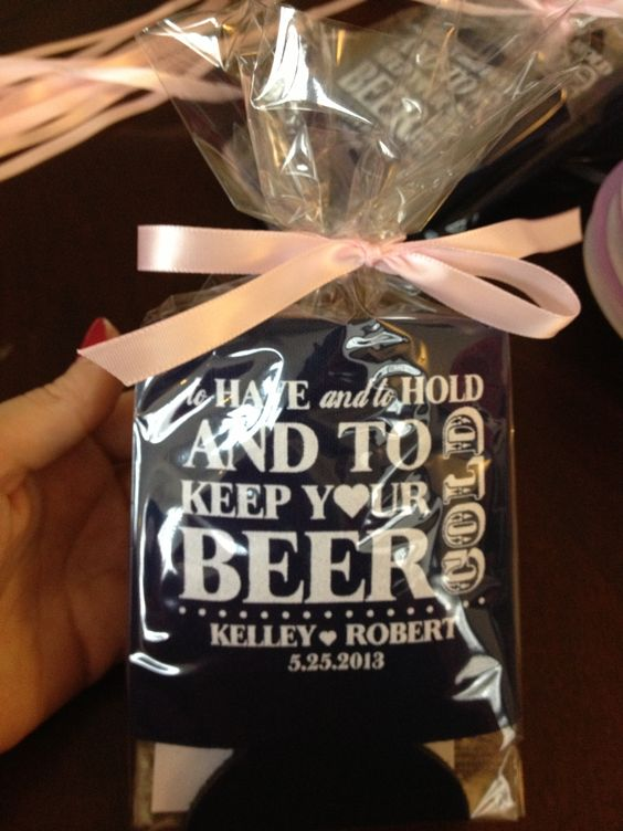 Favors! With little thank you notes inside each koozie! $125 total for 200!!!
