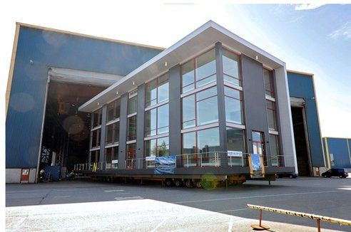 Modern Office Building Rendered From A Low Level Modern Office - Modern office building
