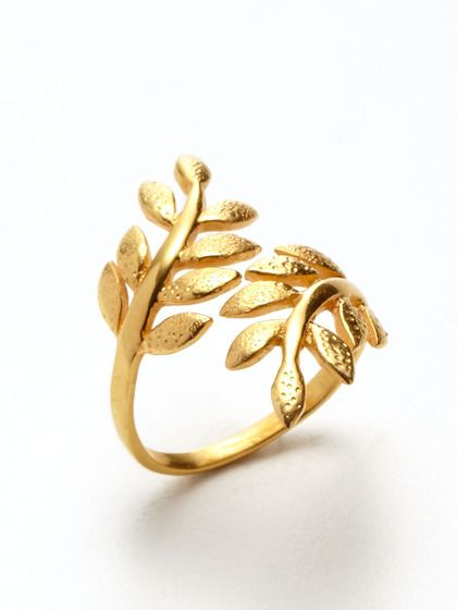 Olive Branch Ring by Eddera on Gilt