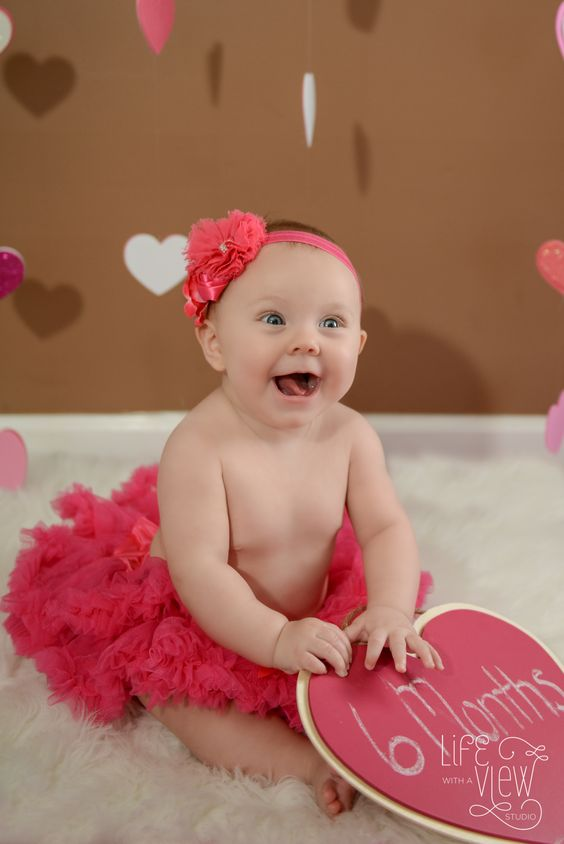6 Month Baby Photography - Valentine's Day Session - Life with a View Studio