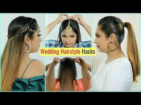 6 Life Saving Wedding Hairstyles Hacks You Must Try Tricks Bridal Haircare Shrutiarjunanand Youtube Hair Styles Hair Hacks Wedding Hairstyles