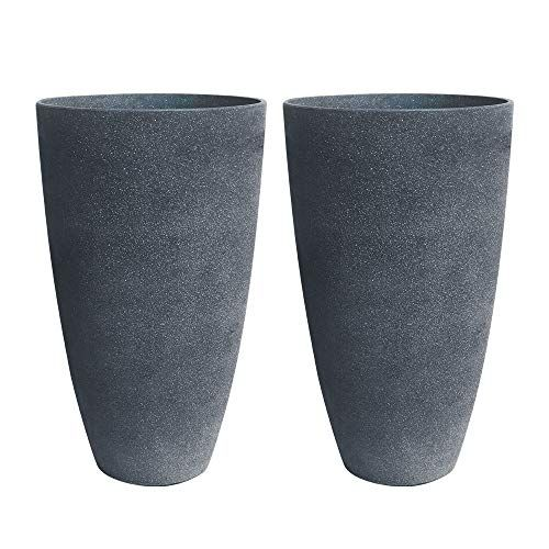 Tall Planters Set 2 Flower Pots 20 Tall Planters Outdoor