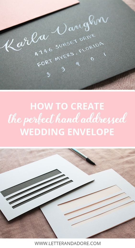 wedding invitation label templates%0A   Tips for DIY wedding envelope addressing     free downloadable template  to help you create the perfect wedding envelope    Letter  u     Adore Blog    Pinterest