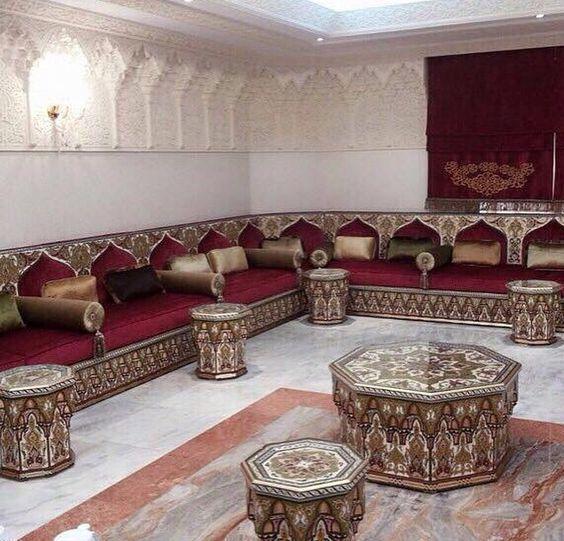 صور جديدة من ديكورات الصالون المغربي 2020 Arabic Decor Moroccan Home Decor Living Room Sofa Design