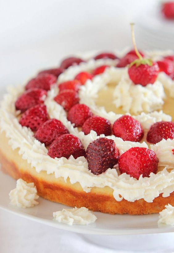 Lemon Strawberry Shortcake Recipe. Cute presentation.