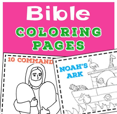 Easy Bible Coloring Pages For Toddlers And Preschoolers The Perfect Way For Young Children To Remember The S Bible For Kids Preschool Bible Sunday School Kids